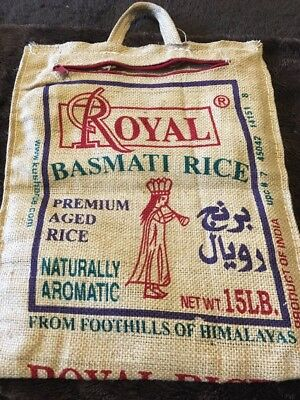 Burlap Rice Bag Vintage