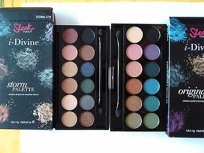 Lot 2 palettes maquillage Sleek Make up neuves