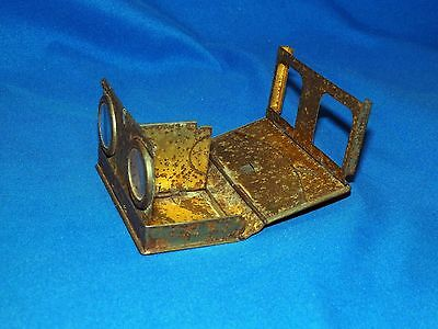 Rare Miniature Early 1900s Pocket ROTOSCOPE Book Stereoviewer Stereo Viewer
