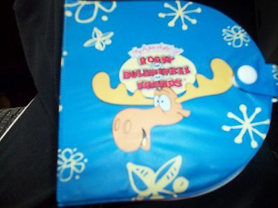 vintage rocky and bullwinkle and friends cd holder 80's-90's great condition col