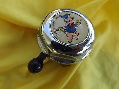 Rare Vintage Metal Walt Disney PORKY PIG Bike Bell, works good, Made In Germany