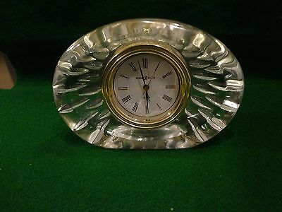 Howard Miller Desk Clock with Alarm - Heavy Glass - Battery Included - Works