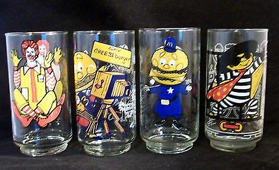 Vintage McDonald's Collector Series Glasses Set of 4