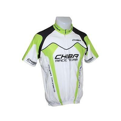 Maillot velo adulte team vert/blanc s - fabricant Chiba