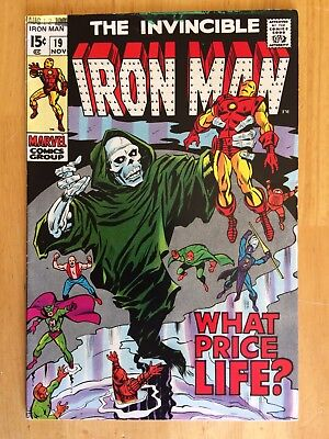"""Iron-Man #19 NM- 9.2 Beautiful Copy """"What Price Life"""" Silver Age Avengers"""