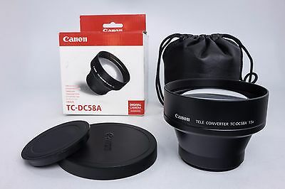 Canon TC-DC58A 58mm 1.5x Teleconverter Lens for PowerShot Pro1 Digital Camera