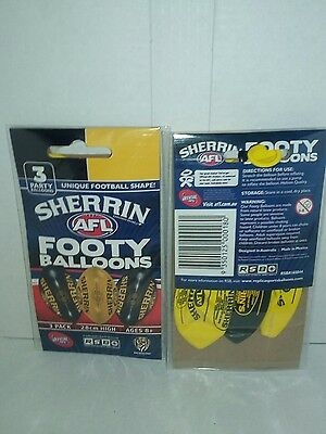 Rsb Richmond Tigers Sherrin Footy Balloons 3 Pack