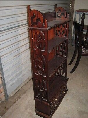 Pretty fretwork detail small bookshelf cd rack