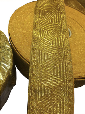 gold briad lace ribbon  width size 5CM  (price per metre)