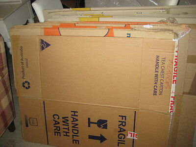 21 large packing boxes