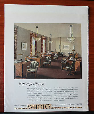 Vintage- William F Wholey Co - decorating - magazine advertising 11 x 13 inches