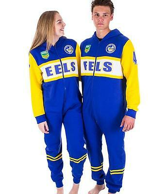 NRL Onesie Footy Suit - Parramatta Eels - Infant Kids Youth Adult - All Sizes