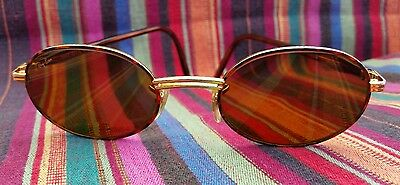 Ray Ban Rituals Vintage Tortise Gold Oval Sunglasses Rare & Very Retro