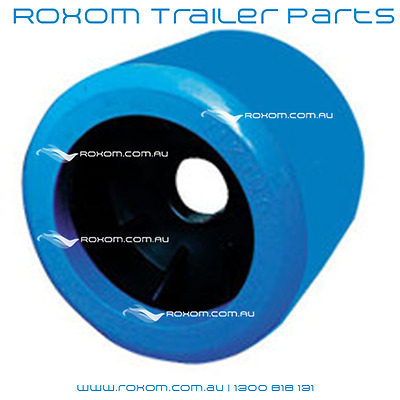 "x12 BOAT TRAILER WOBBLE ROLLERS. 4"" BLUE SMOOTH 18-22mm Bore. Soft Wobble Roller"