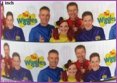 1 metre, THE WIGGLES, 25mm, Ribbon, 1 inch, Emma, Grosgrain, Hair, Sewing