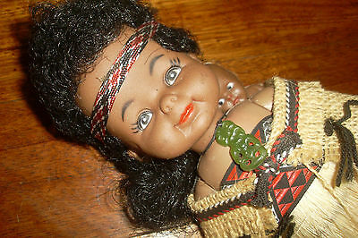 Collectable Vintage Maori Doll with Baby