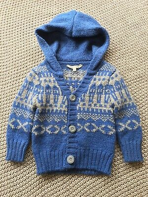 Cotton On Kids Knitted Jumper Cardigan Boy Size 00