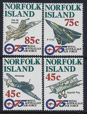 1996 NORFOLK ISLAND 75th ANNIVERSARY OF THE RAAF SET OF 4 FINE MINT MNH/MUH