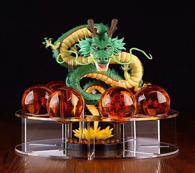 Dragonball Z Shenlong Shenron+7pcs Star Crystal Ball+Display Stand Toy Xmas Gift