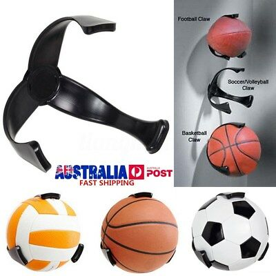 PC Ball Claw Wall Mount Rack Holder Display for Rugby Basketball Soccer Football
