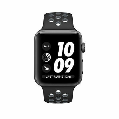 Apple Watch Series 2 42mm Nike+ Aluminum Space Grey Case Black/Cool Band