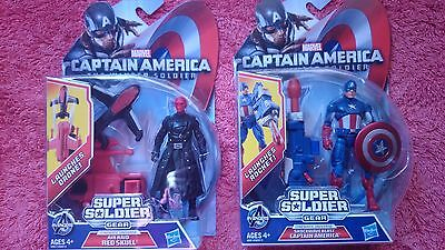 captain america winter soldier figures red skull and captain america
