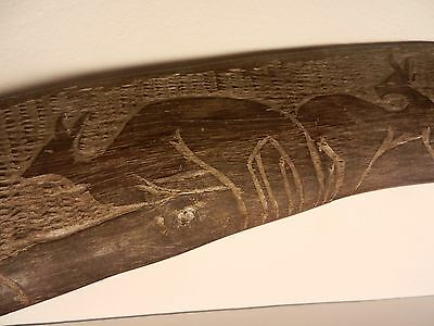 Large Early 20th Century Australian Aboriginal Boomerang Carved Central desert