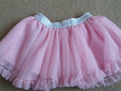 F&f baby girls pink net layered skirt age 9/12 mths good con