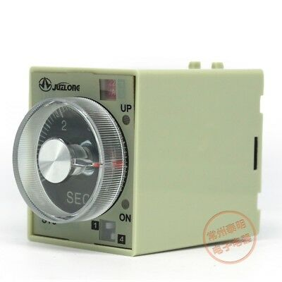 1Pcs 24/220/380V DC AC Adjustable Electronic Time Delay Power On Relay 2NO 2NC