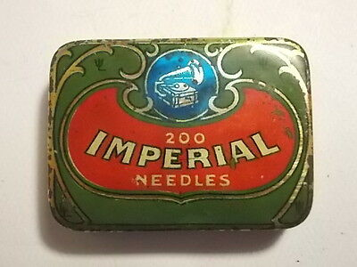 Old Imperial Phonograph Gramophone Needle Tin. VG