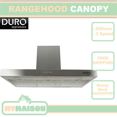New Rangehood Bbq Commercial Alfresco Twin Motor Canopy Stainless Steel 900MM