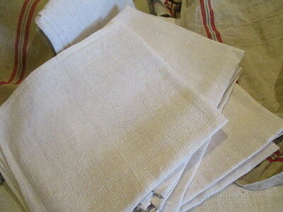 Vintage French Hemp Torchons, Towels,  Cushions Projects