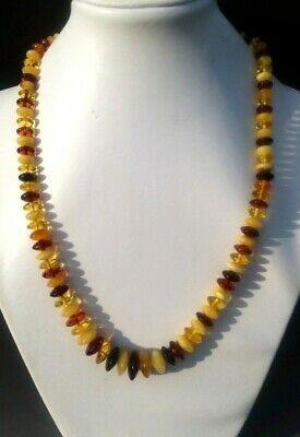 "19,3"" Real Genuine Baltic Amber Necklace for Men/Women MIX Color"