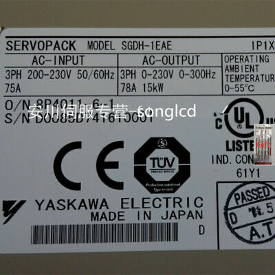 Yaskawa Servo Driver SGDH-1EAE NEW IN BOX !!via DHL or EMS!!