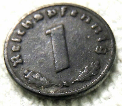 Germany - One Reich Pfenning Coin - 1941 - Reasonable Cond-Deceased Estate