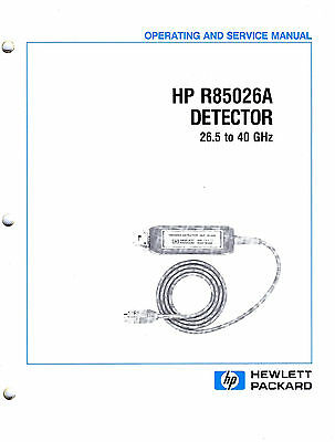 HP / Agilent R85026A Detector 26.5 - 40 GHz: Operating and Service Manual - neu!