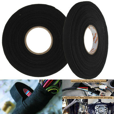 9mm x 25m Adhesive Cloth Fabric Harness Loom Cable Looms Wiring Tape Cable Roll