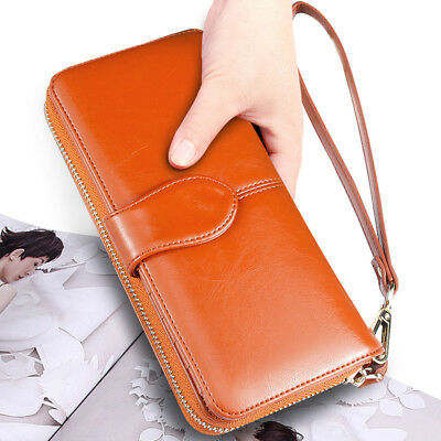 USA Lady Women Leather Wallet Long Card Holder Case Clutch Purse Handbag Bag