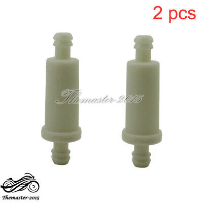2x Small Inline Fuel Filter For Polaris #2530009 ATV Sportsman Magnum Snowmobile