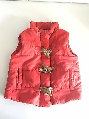 SEED Baby Red Vest Size 6-12 Month Boy Girl Toggle