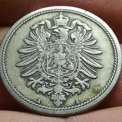 1876 A German 10 pfennig Deutsches Reich coin VF #ch604