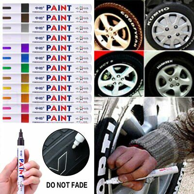 12 Waterproof Permanent Paint Car Tire Tyre Marker Pen Tread Rubber Metal