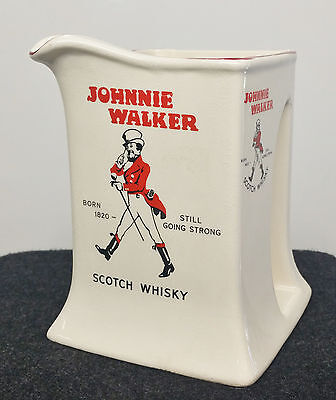 Vintage Johnnie Walker Scotch Whisky Water Pitcher Pub Jug Made by Wade England
