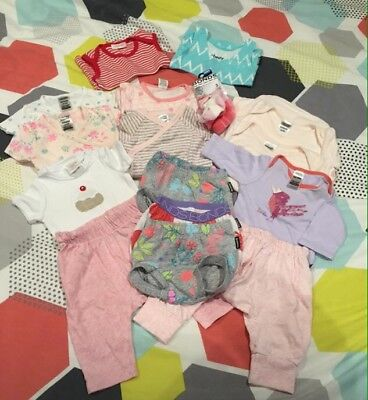 Baby Girl Clothes 0-3 Months, Bonds, Seed, Purebaby...