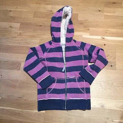 Girls Mini Boden Fleece Shaggy Hoodie Age 7-8