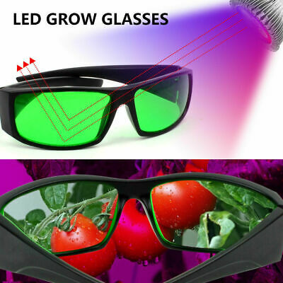 LED Grow Light Glasses Visual Eye Protection Indoor Room Hydroponic Plants