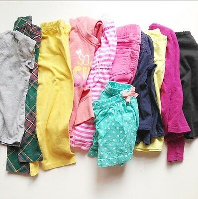 Girl's 11 Piece Clothing Whole Lot Size 2T Mixed Brands