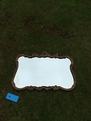 Vintage Original Atsonea Acanthus Rococo Gilt Framed Wall Hanging Glass Mirror