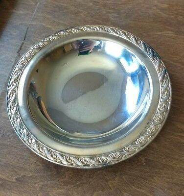 Vintage Wm Rogers & Son Silverplate Spring Flower Small Bowl 2048