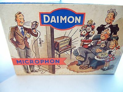 zwei Daimon Mikrophone OVP alt Radiomikrophon West Germany
